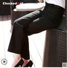 高腰西褲 修身女士工作服checkedout女服務員工作筒褲 黑色正裝褲