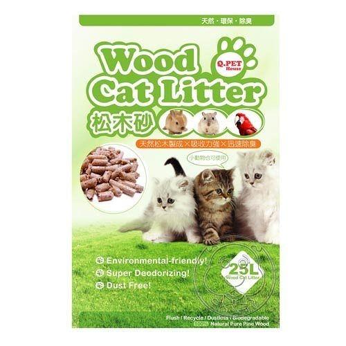 四個工作天出貨除了缺貨》(免運)Q.PET Wood Cat Litter 松木砂25L 貓/小動物不能與其他商品合併