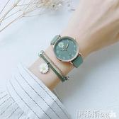 手錶 手錶女ins風簡約氣質初高中學生小清新防水夜光森系學院風電子表  美物 99免運
