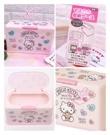 小花花日本精品Hello Kitty凱蒂貓紅色滿版圖口罩收納盒收納箱粉紅盒2月中到日本限定 90123207