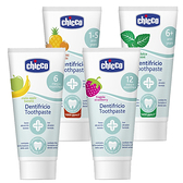 Chicco 兒童木醣醇含氟牙膏 蘋果香蕉 水果草莓 鳳梨水果 薄荷 寶寶牙膏 8707