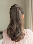 假髮馬尾 梨花捲馬尾假髮女 捆綁式長捲髮短髮大波浪假馬尾接髮片