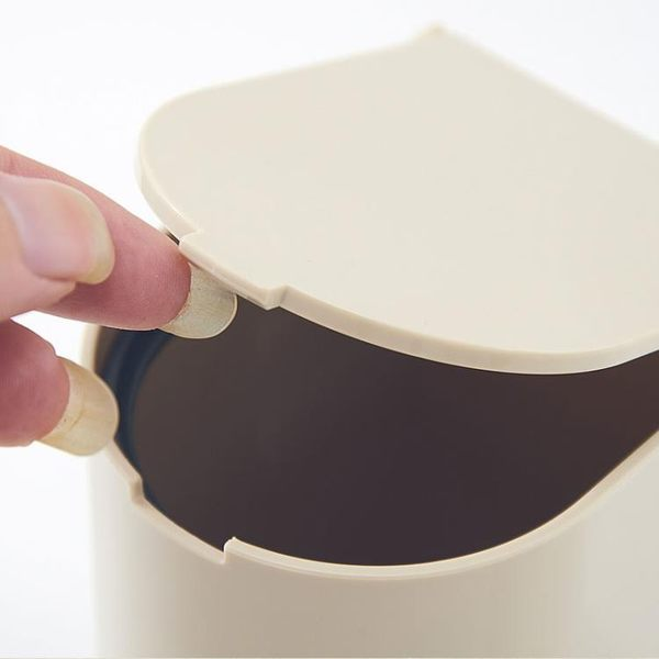 新年大促時尚創意桌面垃圾桶 半圓形桌上垃圾桶 廚房臺面雜物桶 森活雜貨