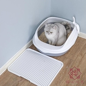 貓砂盆貓咪廁所全半封閉式防臭防外濺【櫻田川島】