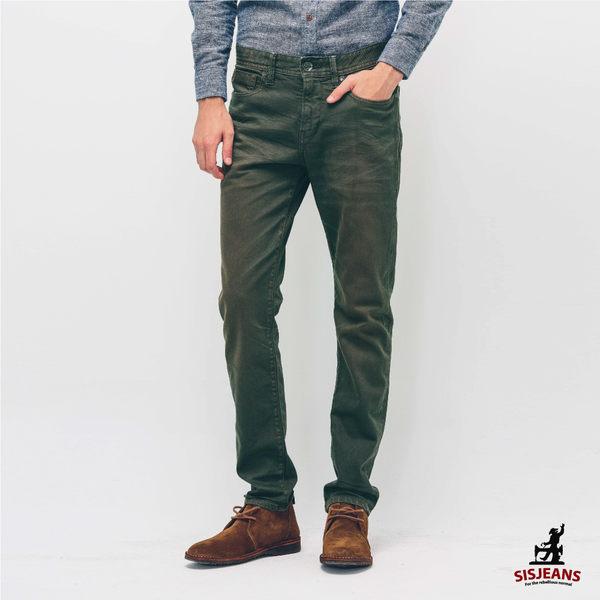 SISJEANS-軍綠刷色輕磨牛仔褲【15271016】