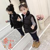 女童馬甲外套加厚外穿秋冬款韓版男童女童羽絨棉外套【奈良優品】