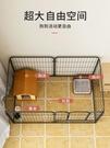 寵物圍欄寵物籠 室內狗籠子中小型犬柯基泰迪隔離門大型自由組合柵欄TW【快速出貨八折搶購】