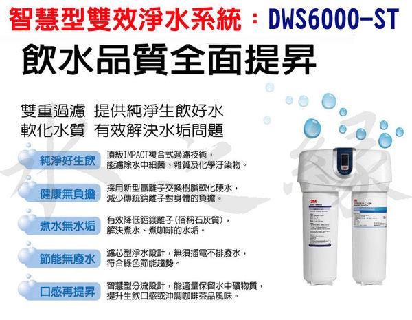 3M HEAT1000櫥下加熱器+DWS6000雙效淨水器✔贈3M原廠SQC樹脂系統+濾心+HF27洗滌淨水系統✔水之緣