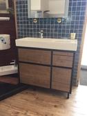 【麗室衛浴】 美國KOHLER活動促銷 K-96121T-1-0 一體成型90公分面盆+多功能浴櫃 數量有限