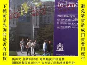 二手書博民逛書店learning罕見to lead in celebration