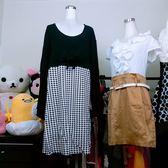 ★現貨★超大碼洋裝 千鳥格 腰上蝴蝶結 長袖連身裙 【XP現貨】【星品時尚】
