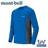 【Mont-Bell 日本 特男COOL L/S T M S排汗長T恤《藍/灰》】1114121/吸濕排汗/抗UV/休閒衫