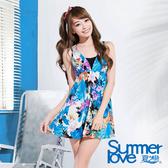 【Summer Love 夏之戀】浪漫花卉連身裙三件式泳裝(E16721)