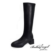 長靴 完美作風素面方頭長筒跟靴(黑)*BalletAngel【18-A118bk】【現+預】