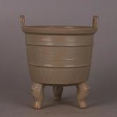 越窯青釉刻花玄紋香爐鼎 仿宋代出土舊貨古玩古董瓷器收藏手工瓷