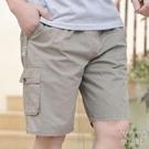夏季中年男士短褲休閒爸爸五分褲純棉寬鬆中老年大褲衩外穿 快速出貨