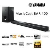 【領券再折$200】YAMAHA MusicCast BAR 400 無線家庭劇院 SOUNDBAR 台灣公司貨 YAS-408