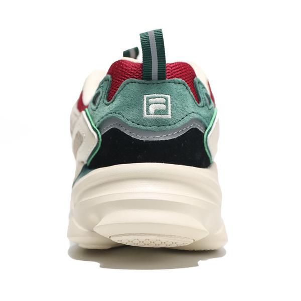 FILA 休閒鞋 SKIPPER 復古 老爹鞋 慢跑 拼接複合材質 白綠紅 女 (布魯克林) 4J528U940