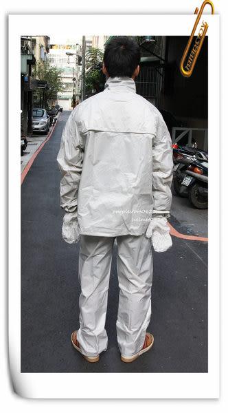 林森●東興多功能雨衣,防風套裝雨衣,勁裝騎士,銀灰~