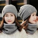 毛帽 帽子女秋冬季針織帽子加絨加厚護耳毛...
