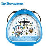 格子款【日本正版】哆啦A夢 鬧鐘 造型鐘 指針時鐘 夜燈功能 小叮噹 DORAEMON 三麗鷗 Sanrio - 082575