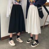港風chic工裝裙女2020春夏季新款學生復古高腰顯瘦A字半身裙女夏-米蘭街頭
