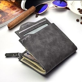 2021新款男士錢包韓版多卡位復古駕駛錢包卡包零錢包短款學生多功「草莓妞妞」