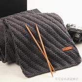 黛青 毛線手工diy編織圍巾材料包球情人牛奶棉粗線團女自織送男友