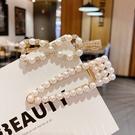 【NiNi Me】韓系髮飾 甜美可愛珍珠水鑽鴨嘴夾髮夾 髮夾 H9532