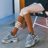 長筒襪子女韓國夏季薄款小腿襪日系學院風及膝條紋高筒運動棒球潮 韓幕精品
