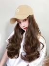 假髮帽 棒球帽子女韓版潮夏天季遮陽網紅款帶長卷假發帽子一體時尚鴨舌帽 韓菲兒