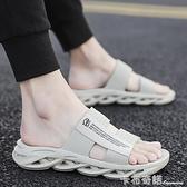 新款夏季拖鞋男士室外韓版潮流個性休閑涼拖外穿網紅ins涼鞋 卡布奇諾