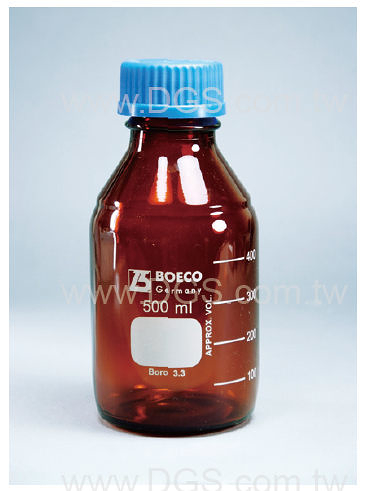 《 BOECO 》茶色廣口血清 試藥瓶 GL45 Amber Bottle, Media, Screw Cap, GL45 PP Cap