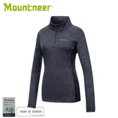 【Mountneer 山林 女雲彩針織保暖上衣《黑》】32P20/保暖長袖/保暖中層