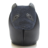 LOEWE 羅威 藍色熊貓造型牛皮零錢包 Panda Coin Purse 【BRAND OFF】