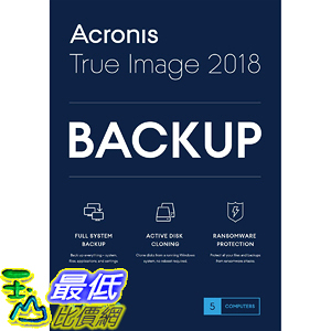 [7美國直購] 2018 amazon 亞馬遜暢銷軟體 Acronis True Image 2018-5 Computer Backup Software