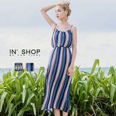 IN' SHOP女神感度假印花細肩長洋裝-共2色【KT23329】