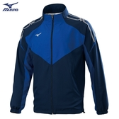 MIZUNO 男裝 外套 立領 套裝 休閒 防潑水 兩側口袋 網布內裡 藍【運動世界】32TC058314