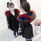 女童棉衣新款韓版冬季中長款外套兒童加厚棉服寶寶洋氣冬裝潮   莫妮卡小屋