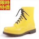 短筒雨靴雨鞋-美式經典時尚繽紛女靴子鞋子12色66ak8【時尚巴黎】