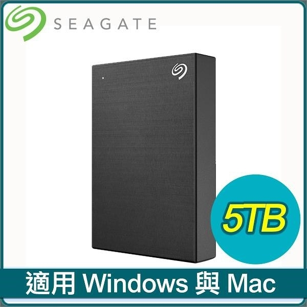 【南紡購物中心】Seagate 希捷 Backup Plus Portable 5TB 2.5吋 USB3.0 外接硬碟(STHP5000400)《黑》