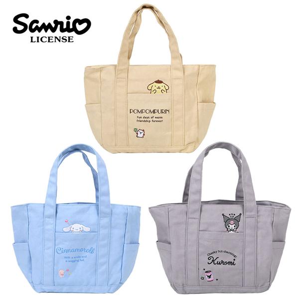 【日本正版】三麗鷗 帆布手提袋 便當袋 午餐袋 布丁狗 大耳狗 酷洛米 喜拿 577042 577059 577103