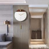 北歐鹿頭掛鐘客廳家用創意大氣現代簡約鐘表個性時尚掛墻掛表時鐘 『橙子精品』