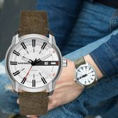 DIESEL 義大利軍綠質感皮革腕錶 DZ1781 熱賣中!