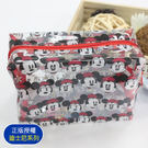 ☆小時候創意屋☆ 迪士尼 正版授權 米妮頭 大號 透明包 化妝包 收納包 環保材質 防水包 海灘包