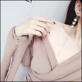 5天出貨★圓環珍珠長鏈條耳環★ifairies【45725】