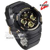 G-SHOCK AW-591GBX-1A9 雙顯基礎款 立體整點時刻休閒男錶 女錶 金x黑 AW-591GBX-1A9DR CASIO卡西歐