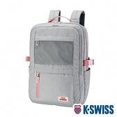 K-SWISS Travel Backpack休閒後背包-灰/粉紅