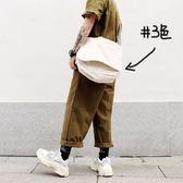 【陳逗比】日繫復古文藝範校園M*ji斜挎帆布袋斜背包男女 # 3色入   麥吉良品