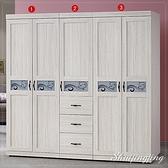 【水晶晶家具/傢俱首選】CX1226-123密卡登6.5*6.5呎白橡色1+2+3三件全組